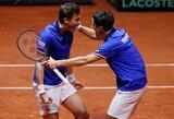 Prancūzijos teniso rinktinė sušvelnino savo atsilikimą Daviso taurės finale