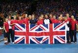 Daviso taurės elitinės grupės finale varžysis Didžiosios Britanijos ir Belgijos tenisininkai