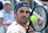 R.Federeris sunkiai palaužė amerikietį, R.Nadalis į kitą etapą žengė užtikrintai laimėdamas
