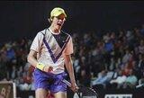 18-metis sensacingai patiesė pirmąją turnyro raketę, A.Murray'us pateko į ketvirtfinalį