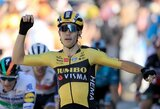 """""""Tour de France"""" etapą laimėjo dviračių kroso žvaigždė, bendros įskaitos lyderiai nepasikeitė"""
