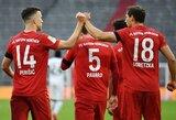 """Vokietijoje – 7 pelnyti įvarčiai ir užtikrinta """"Bayern"""" pergalė"""