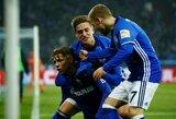 """Vokietijos taurėje nelengvą pergalę iškovojo """"Schalke"""", """"Eintracht"""" susitvarkė su """"Mainz"""""""