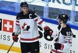 Kanadiečiai ir slovakai pergalingai baigė pasaulio ledo ritulio čempionato grupių etapą