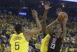 """31 taško persvarą išbarsčiusi """"Warriors"""" pralaimėjo """"Clippers"""" komandai"""