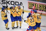 Švedijoje nutrūko Rusijos ledo ritulio rinktinės pergalių serija