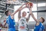 Slovėnus užtikrintai nugalėjusi Lietuvos U16 rinktinė Europos čempionate liko devinta
