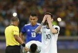 """""""Copa America"""": L.Messi pelnė įvartį, bet sveiką kailį vos išnešusi Argentina - per žingsnį nuo iškritimo"""