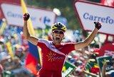 """D.Navarro pirmą kartą karjeroje laimėjo """"Vuelta a Espana"""" dviračių lenktynių etapą"""