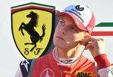 "Tėvo pėdomis žengiantis M.Schumacheris testuose vairuos ""Ferrari"""
