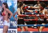 """Bikinio modelis perėjo į profesionalių boksą: """"išjungė"""" jau trečią varžovę"""