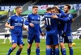 """""""Tottenham"""" nugalėjęs """"Leicester City"""" pakilo į antrąją """"Premier"""" lygos turnyrinės lentelės vietą"""