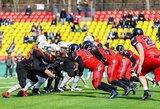 """Lietuvių triumfas amerikietiškame futbole: """"Iron Wolves"""" įveikė svečius iš Kaliningrado"""