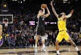 """B.Bogdanovičiaus tritaškis su sirena pražudė be L.Jameso likusią """"Lakers"""""""