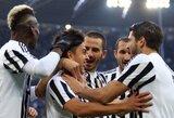 """""""Juventus"""" sutriuškino Veronos klubą, """"Roma"""" to padaryti nesugebėjo, o """"Milan"""" pralaimėjo namuose"""