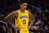 """K.Kuzma: """"Galiu tapti trečiąja """"Lakers"""" superžvaigžde"""""""