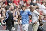 """Sunkią traumą besigydantis L.Sane kitą savaitę sugrįš į """"Manchester City"""" treniruotes"""