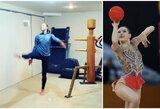 Pademonstravo įgūdžius: lietuvių kilmės gimnastė kamuolį iškeitė į tualetinį popierių