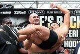 Pamatykite: T.Fury prieš sugrįžimo kovą svėrė daugiausiai per karjerą ir pakėlė savo varžovą