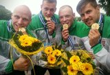 Lietuvos baidarininkai iškovojo auksą ir su trenksmu užbaigė pasaulio taurės etapą Vokietijoje