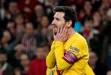 """Paskutinę akimirką pasižymėję """"Athletic"""" eliminavo """"Barceloną"""" iš Ispanijos taurės"""