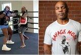 """M.Tysonas užsiminė apie galimybę kautis su geriausiais šių laikų sunkiasvoriais: """"Karo dievai mane atgaivino"""""""