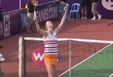 Idealiai finalus žaidžianti A.van Uytvanck triumfavo WTA turnyre Taškente