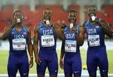 Be U.Bolto likusi Jamaikos rinktinė patyrė fiasko, pasaulio čempionais tapo JAV sprinteriai