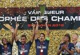 """Kinijoje vykusioje Prancūzijos Supertaurėje A.Di Maria pelnė dublį, o Paryžiaus PSG sutriuškino """"Monaco"""""""
