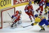 Švedai įspūdingai pradėjo antrąjį Euroturo ledo ritulio turnyrą