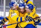 Švedija po 14 metų pertraukos pasaulio čempionate nugalėjo rusus