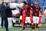 """""""Roma"""" grįžo į pergalių kelią ir nugalėjo """"Fiorentina"""" klubą (+ kiti rezultatai)"""