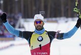 Pasaulio biatlono taurės persekiojimo lenktynėse – M.Fourcade'o ir K.Makarainen pergalės