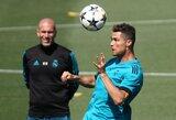 Z.Zidane'as: apie galimą C.Ronaldo sugrįžimą ir nuolat traumuotą E.Hazardą
