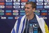 Pasaulio čempionate su Urugvajaus vėliava vaikščiojęs A.Griezmannas bus paskelbtas Montevidėjaus garbės svečiu