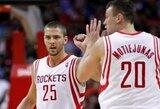 """D.Motiejūnas sužaidė dar vienas sėkmingas rungtynes, o """"Rockets"""" puolimas nušlavė """"Lakers"""" ekipą"""