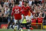 """C.Ronaldo sugrįžimo rungtynėse pelnė dublį, o triuškinamą pergalę iškovojęs """"Man Utd"""" tapo """"Premier"""" lygos lyderiu"""