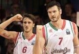 """Italijos pirmenybėse – dramatiška R.Kaukėno ir D.Lavrinovičiaus ekipos pergalė prieš """"Emporio Armani"""""""
