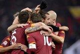"""Anksti į nokdauną pasiųstas """"Milan"""" krito Romoje"""