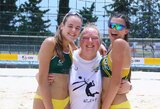 Dvi Lietuvos paplūdimio tinklinio poros be pralaimėjimų žygiuoja Europos jaunimo čempionate