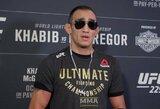 """Medicininę apžiūrą praėjęs T.Fergusonas: """"UFC turėtų atimti diržą iš Chabibo"""""""