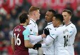"""Anglijos """"Premier"""" lyga: atgimę """"Swansea"""" sutraiškė """"West Ham United"""", pergalę iškovojo ir """"Tottenham"""""""