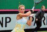 Dvigubų klaidų rekordus gerinanti A.Paražinskaitė Belgijoje nepateko į ketvirtfinalį