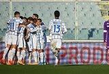 """119-ąją minutę pergalę išplėšęs """"Inter"""" iškovojo bilietą į Italijos futbolo taurės ketvirtfinalį"""