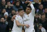 """2 Casemiro įvarčiai padėjo """"Real"""" pakilti į pirmą vietą Ispanijoje"""
