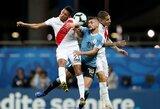 """Dar viena """"Copa America"""" drama: du anuliuoti Urugvajaus įvarčiai ir baudinių serijos metu bilietą į pusfinalį iškovojusi Peru"""