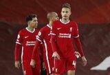 """Netikėta: 82-ąją minutę įvartį praleidęs """"Liverpool"""" nesugebėjo įveikti """"Premier"""" lygos autsaiderių"""