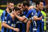 """Be klaidų Italijoje žaidžiantys """"Inter"""" iškovojo trečią pergalę iš eilės"""