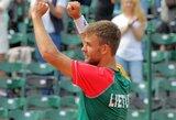 L.Grigelis atvedė Lietuvos vyrų teniso rinktinę į kitą Daviso taurės etapą!