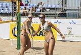 Lietuvos paplūdimio tinklininkės galingai pradėjo FIVB turnyrą Maroke